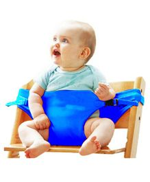 Magic Seat - Baby Portable Safety Seat Belt for Feeding Baby - Blue