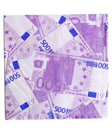 Party Anthem EURO Paper Napkins / Printed Tissue- 2 Ply - (Pack of 40 Sheets)