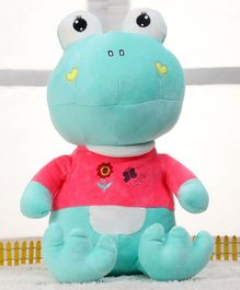Dimpy Stuff Frog Soft Toy Blue - Height 40 cm