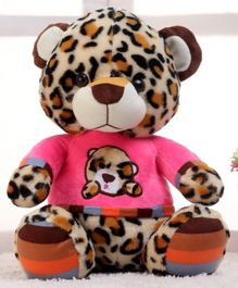 Dimpy Stuff Tiger Soft Toy Pink & Cream - Height 30 cm