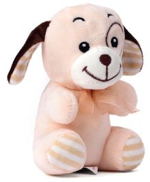 Dimpy Stuff Puppy Soft Toy Cream - Height 16 cm