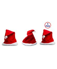 Zest 4 Toyz Christmas Santa Claus Caps Free Size - Pack of 3