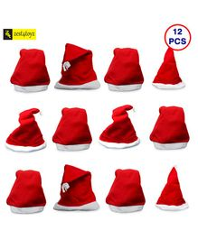 Zest 4 Toyz Christmas Santa Claus Caps Free Size - Pack of 12