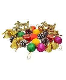 Zest 4 Toyz 104 pcs Christmas Tree Assorted Decoration Set (Balls, Bells, Gifts, Drums, Candy Sticks & Santa Claus)