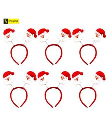 Zest 4 Toyz Cute And Colorful Santa Hairband For Kids - Christmas Fun - Pack of 6