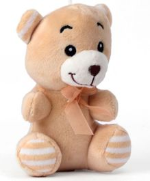 Dimpy Stuff Teddy Bear Soft Toy Light Brown - Height 16 cm