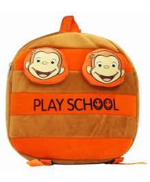 Hello Toys Monkey Play School Soft Toy Bag Orange - 15 Inches