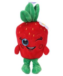 Dimpy Stuff Strawberry Clip On Soft Toy Green Red - Height 20 cm