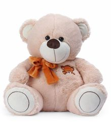 Dimpy Stuff Teddy Bear With Bow Peach - Height 40 cm