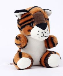 Dimpy Stuff Tiger Soft Toy Brown - Height 15 cm