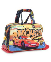 Disney Duffle Trolley Bag With Car print - Multicolor