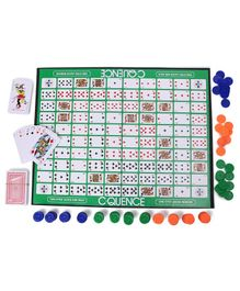 Ajanta C-Quence Strategy Board Game - Green