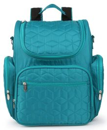 Bagsfinitee Premium Quilted Diaper Bag With Changing Mat & Bottle Cover - Green