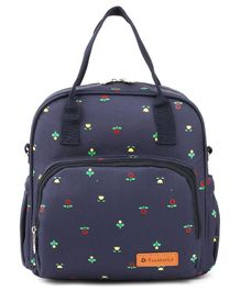 Teeworld Mini Diaper Backpack Floret - Blue