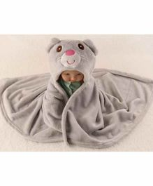 ZOE Hooded 2 In 1 Baby Blanket Cum Wrapper - Grey