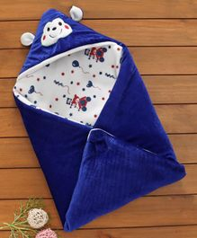 ZOE Hooded Fleece Wrapper Cum Blanket - Purple