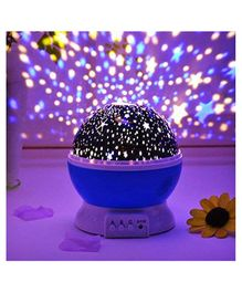 Skylofts Star Light Rotating Projector Lamp With Colors and 360 Degree Moon - Purple