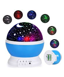 Skylofts Star Light Rotating Projector Lamp With Colors and 360 Degree Moon - Blue