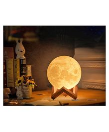 Skylofts Color Changing Battery Operated Moon 3D Crystal Ball Night Light With Stand