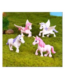 Skylofts Cute Unicorn Miniatures Garden Decoration Gifts - Pack of 4