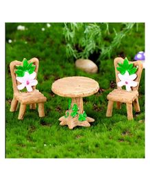 Skylofts Table Chair Set Showpiece Home Decor Miniatures Landscape