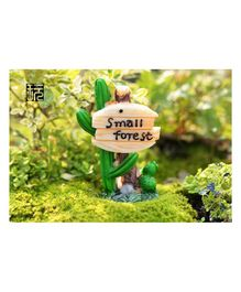Skylofts Small Forest  SignBoard Showpiece Home Decor Miniatures