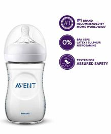 Avent Natural Plastic Feeding Bottle - 260 ml