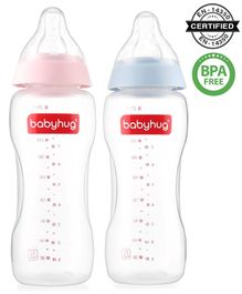 Babyhug Wide Neck Feeding Bottle Pack of 2 - 270 ml Each