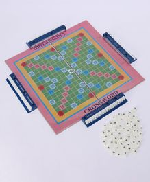 Ajanta Genius 2 In 1 Educational Crossword Board Game - Multicolor