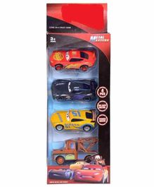 Shanaya Die Cast Pull Back Car Toys Pack of 4 (Color May Vary)
