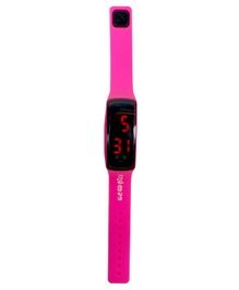 Scoobies Sports Digital LED Band Watch - Pink