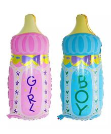 Ziory Baby Shower Large Size Foil Balloons Pack of 2 - Pink & Blue