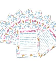 Ziory Baby Prediction Advice Souvenir Game Cards - Pack Of 10