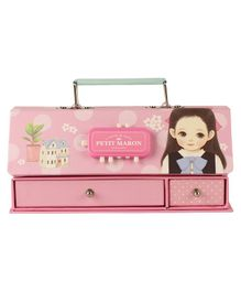 Passion Petals Multipurpose Stationary Box With Lock Code House Print - Pink