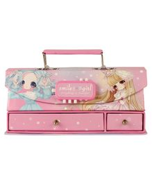 Passion Petals Multipurpose Stationary Box With Lock Code - Pink Blue