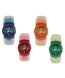 Passion Petals Watch Sharpener With Eraser Set Of 4 - Multicolor