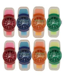 Passion Petals Watch Sharpener With Eraser Set Of 8 - Multicolor