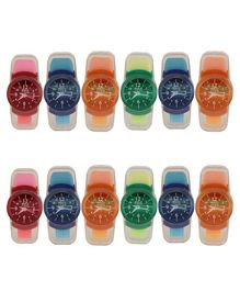 Passion Petals Watch Sharpener With Eraser Set Of 12- Multicolor