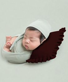 Babymoon Baby Pillow New Born Photography Photoshoot Props Costume - Brown