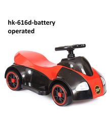 Happykids Battery Operated Ride On Car With Music and lights - Red Black