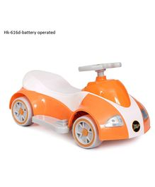 Happykids Battery Operated Ride On Car With Music and lights - Orange