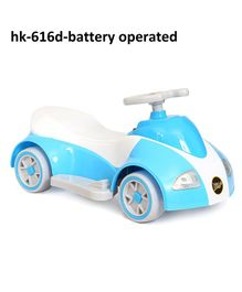 Happykids Battery Operated Ride On Car With Music and lights - Blue