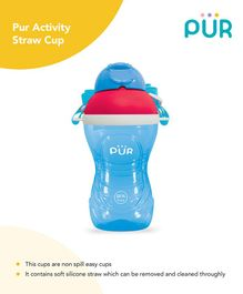 Pur Activity Straw Cup Blue - 390 ml