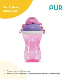 Pur Activity Straw Cup Pink 390 ml