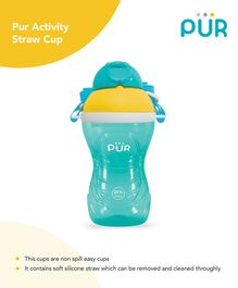 Pur Activity Straw Cup Green - 390 ml