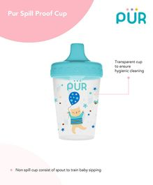 Pur Spill Proof Cup Blue - 200 ml