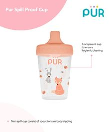 Pur Spill Proof Cup Pink - 200 ml