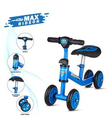Dash Deluxe Max Baby 4 Wheels Balancing Bike - Blue