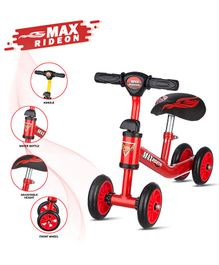 Dash Deluxe Max Baby 4 Wheels Balancing Bike - Red