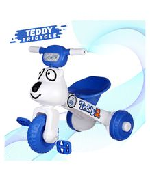 Dash Teddy Face Foldable Tricycle With Music & Light - Blue